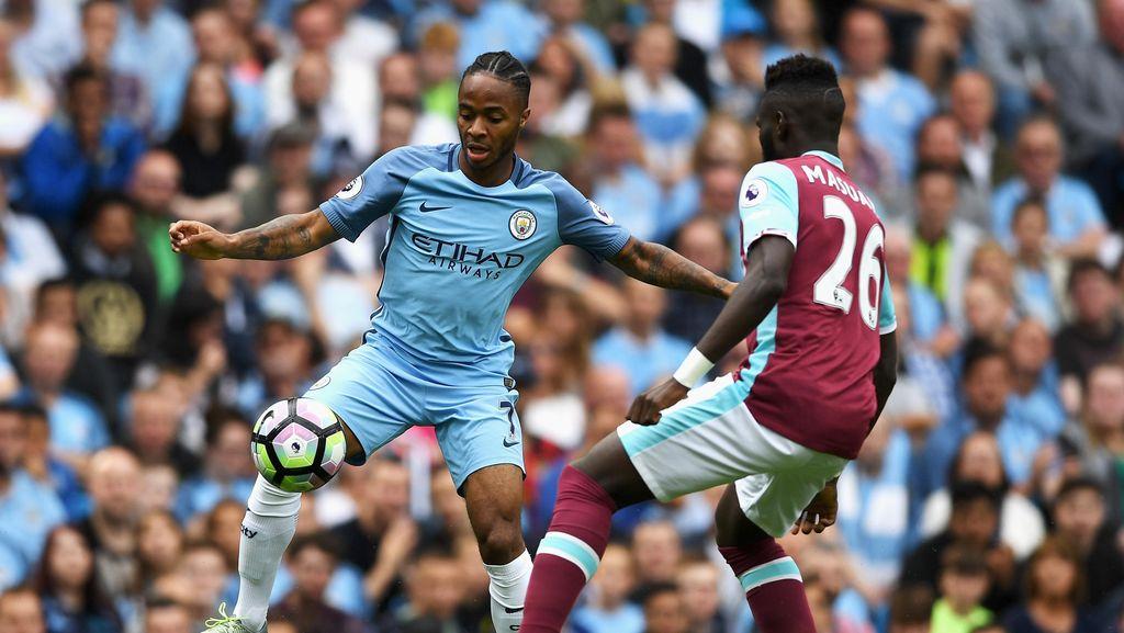 Sterling Dua Gol, City Atasi West Ham 3-1