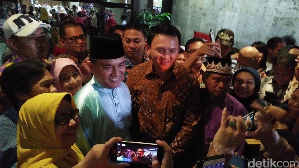 Ahok dan Yusril Ihza Mahendra Foto Bareng di Silaturahmi Masyarakat Belitung