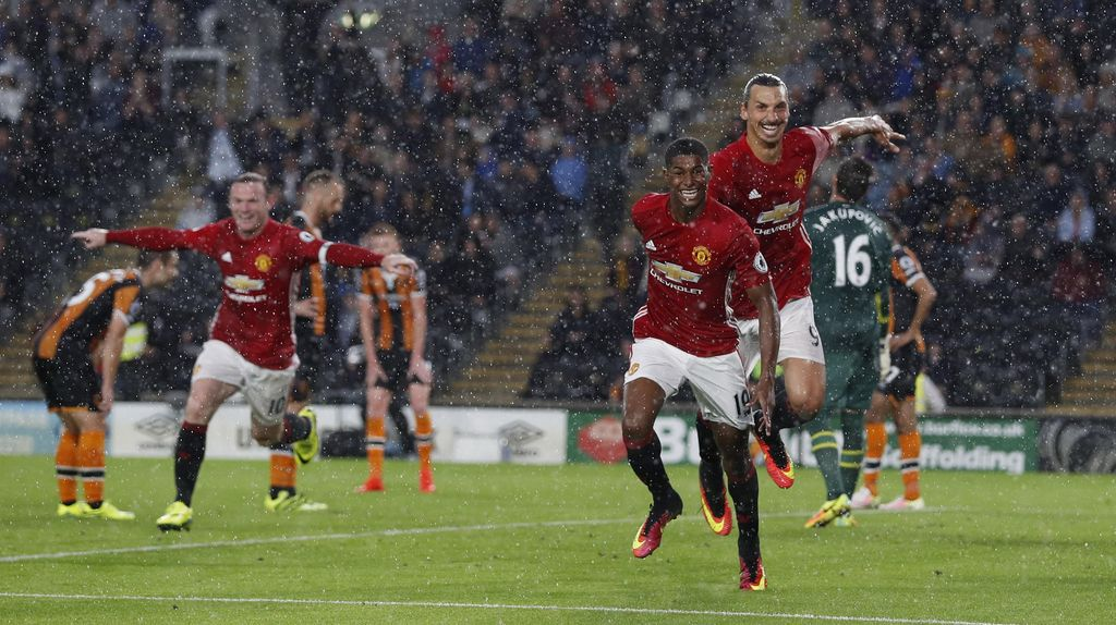Gol Rashford di Injury Time Menangkan MU atas Hull City