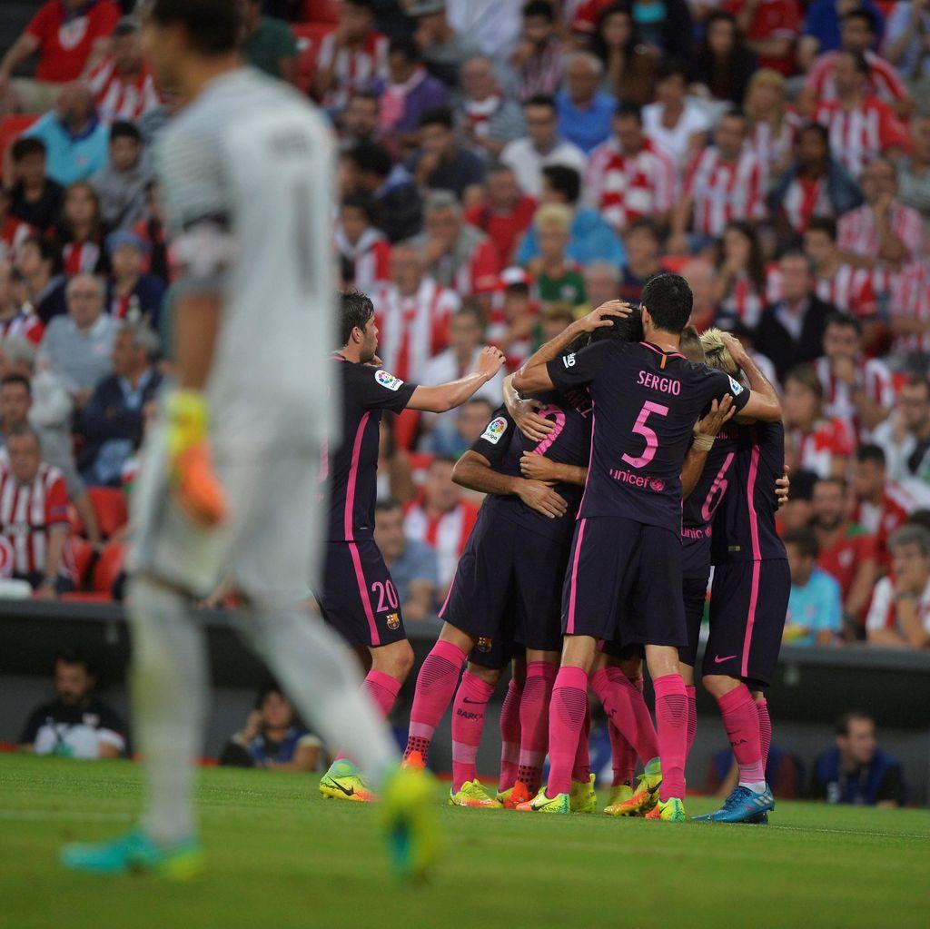 Gol Tunggal Rakitic Menangkan Barca di Kandang Bilbao