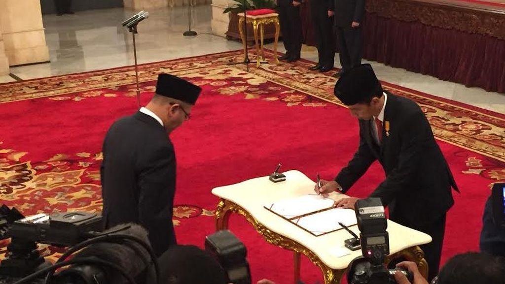 Dilantik Presiden, Hasyim Asyari Resmi Jabat Anggota KPU Pengganti Husni