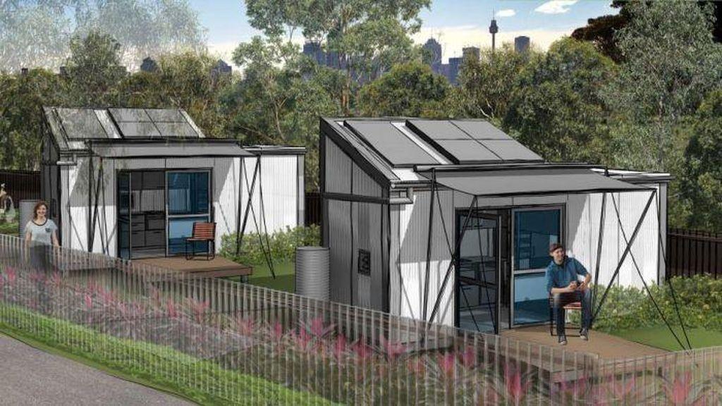 Proyek Pertama Rumah Mungil untuk Tunawisma di Australia