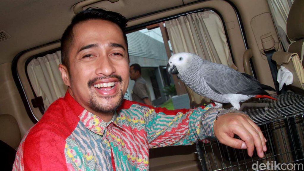 Bosan Main Ponsel, Irfan Hakim Bawa Burung ke Mobil