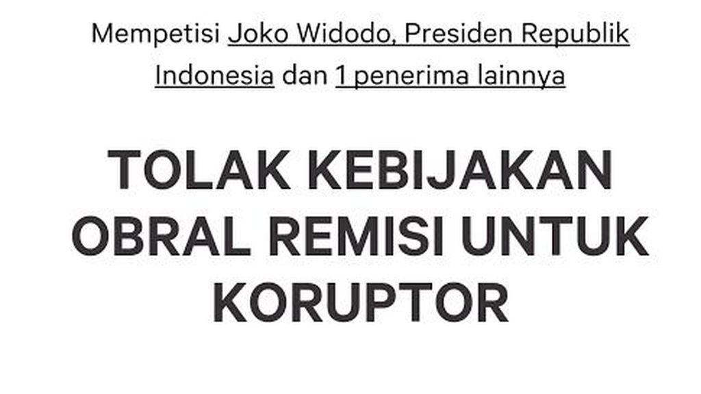 Petisi Tolak Obral Remisi untuk Koruptor Bergulir, KPK Beri Dukungan