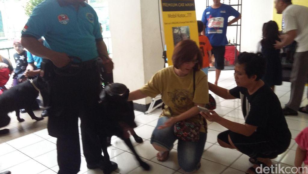 Razia Narkoba di Kelapa Gading, Anjing Pemburu BNN Laris Diajak Selfie Warga