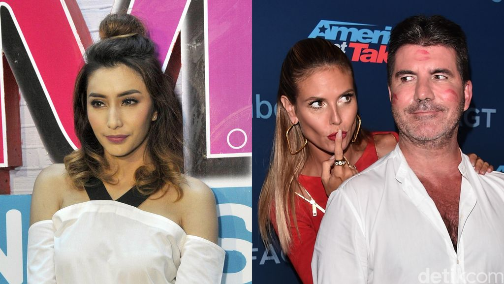 Hot Photo Highlight: Rambut Cepol Tyas Mirasih Sampai Heidi Klum Cium Simon Cowell