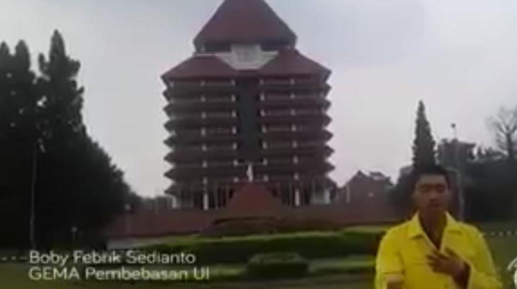 Kasus Boby Aktivis Gema Pembebasan, UI: Jaga Kampus Agar Bebas dari Politik Praktis