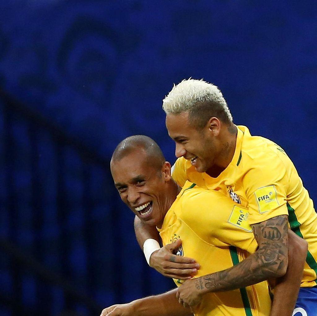 Neymar Bikin Assist dan Gol, Brasil Kalahkan Kolombia 2-1