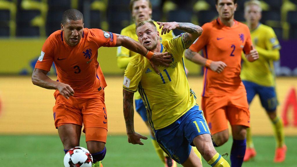 Swedia vs Belanda Berakhir Sama Kuat 1-1