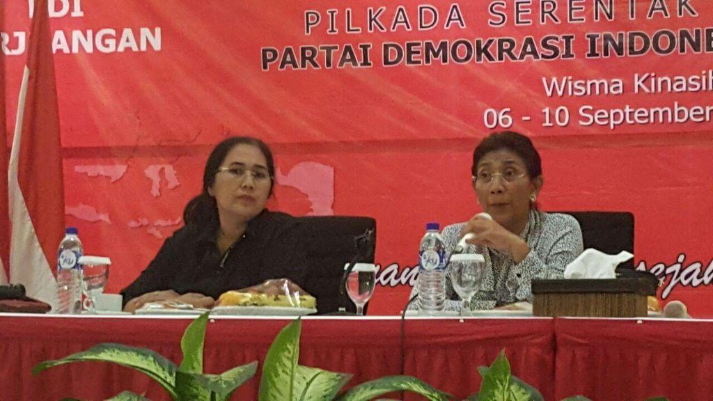 Hadiri Sekolah Partai PDIP, Menteri Susi: Kepala Daerah Harus Revolusioner!