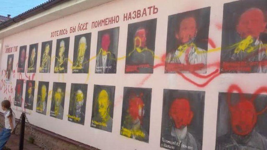 Mural Penghormatan Korban Kekejaman Stalin Dirusak