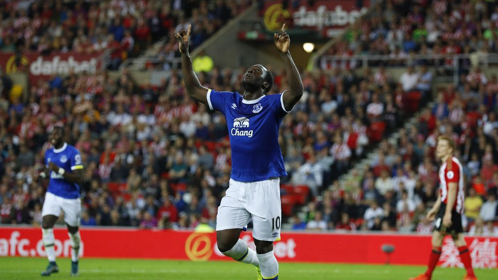 Hat-trick ke Gawang Sunderland, Lukaku Akhiri Puasa Gol untuk Everton