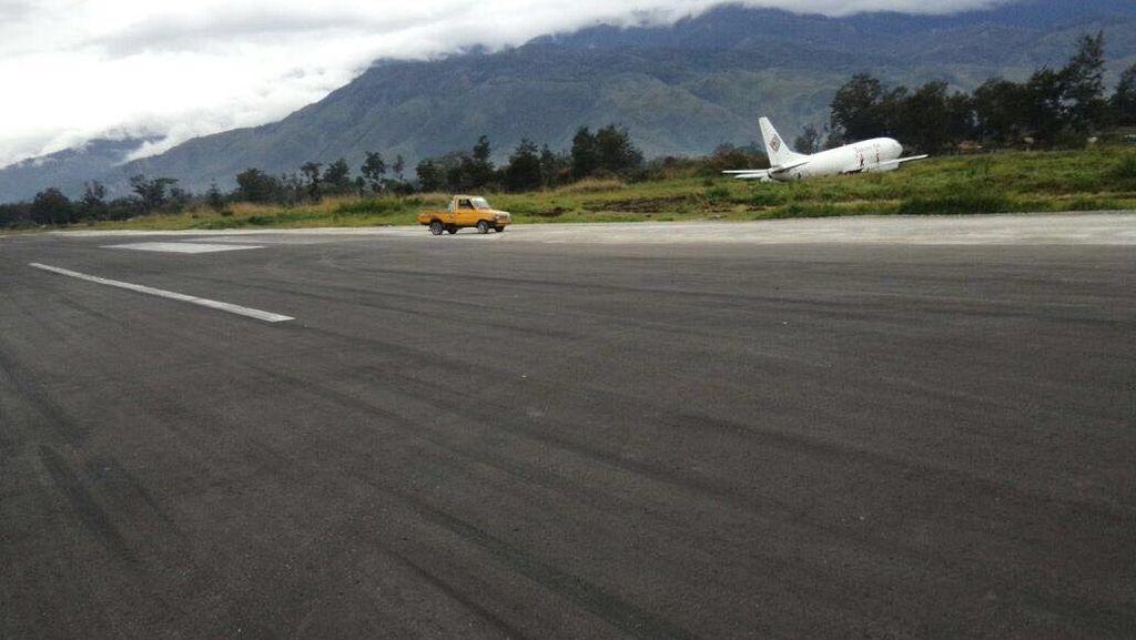 KNKT Rekomendasikan Panjang Landasan Bandara Wamena Ditambah