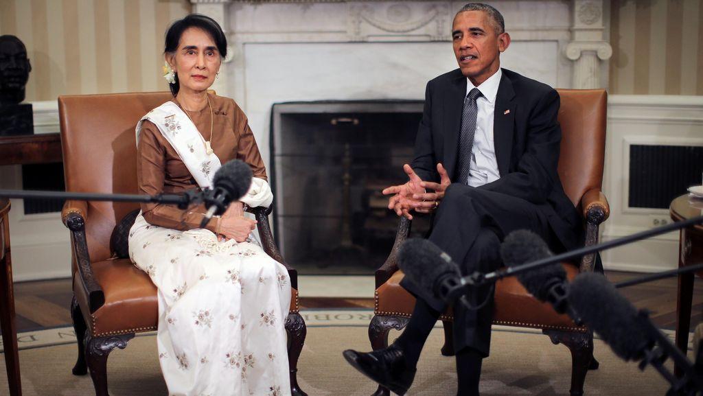 Aung San Suu Kyi Berkunjung ke AS, Obama Janji Cabut Sanksi Myanmar
