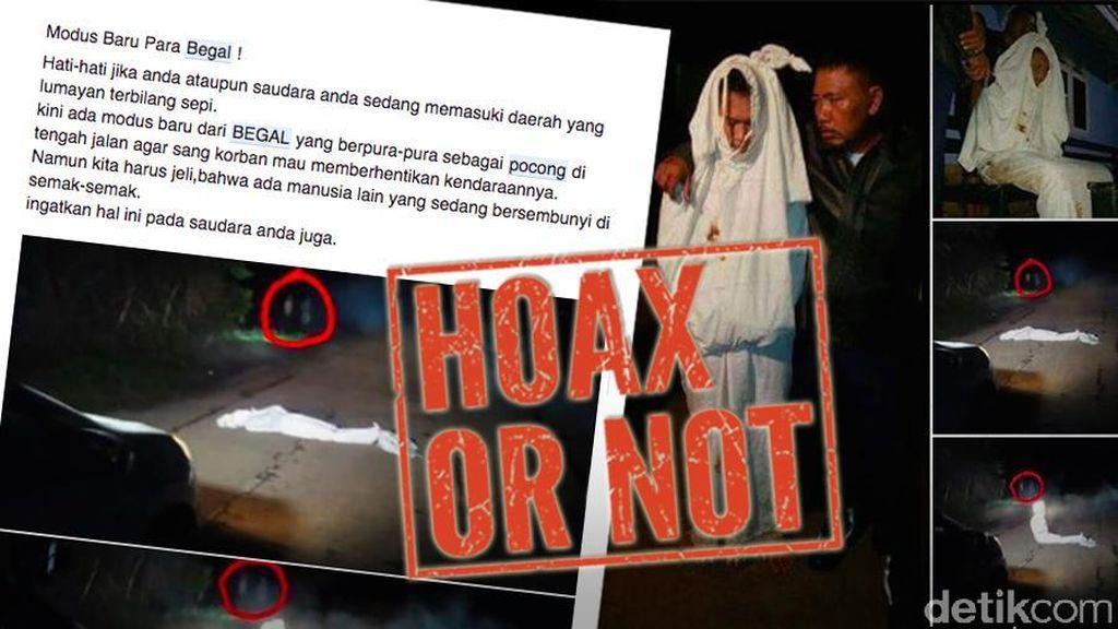 Heboh Begal Pura-pura Jadi Pocong Ditangkap Polisi, Benarkah?