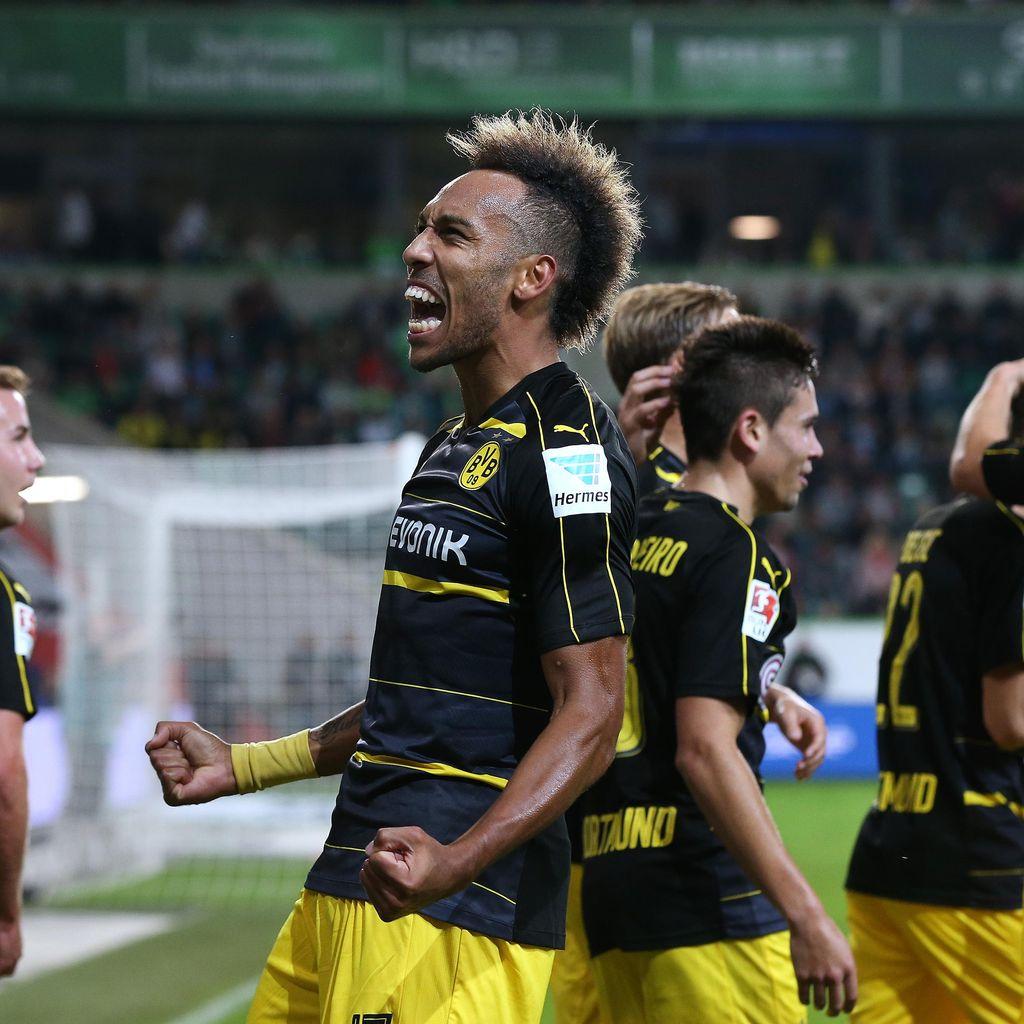Aubameyang Dua Gol, Dortmund Hajar Wolfsburg 5-1