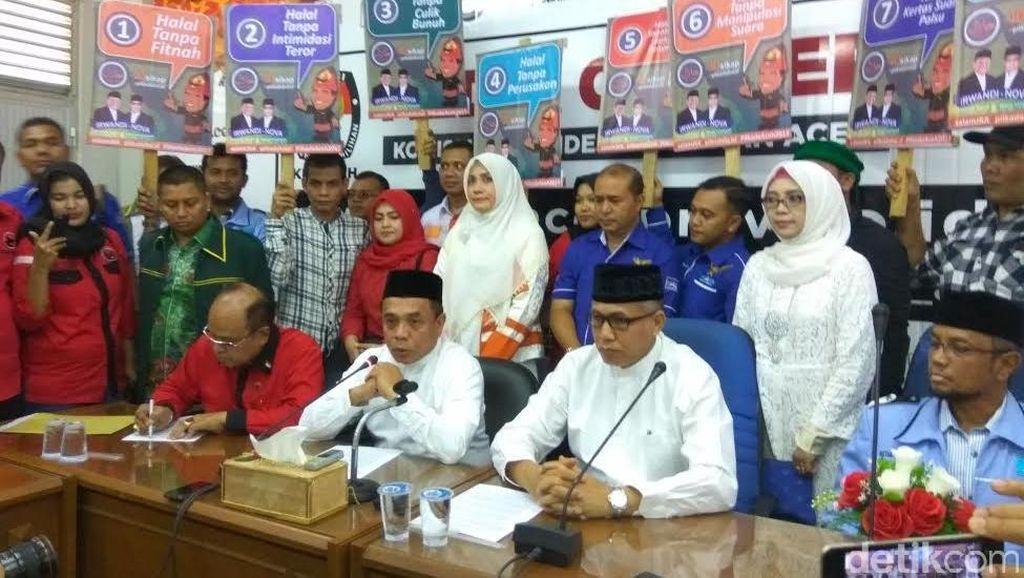Pilgub Aceh, Pasangan Cagub Irwandi-Nova Daftar ke KIP