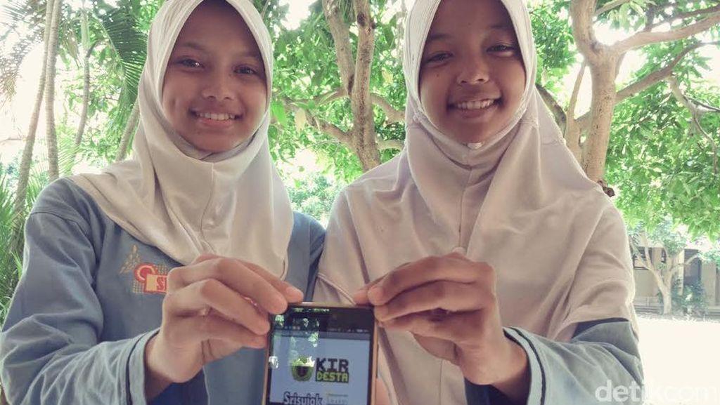 Top! 2 Siswi SMK di Sleman Ini Ciptakan Aplikasi Deteksi Pencuri Jarak Jauh