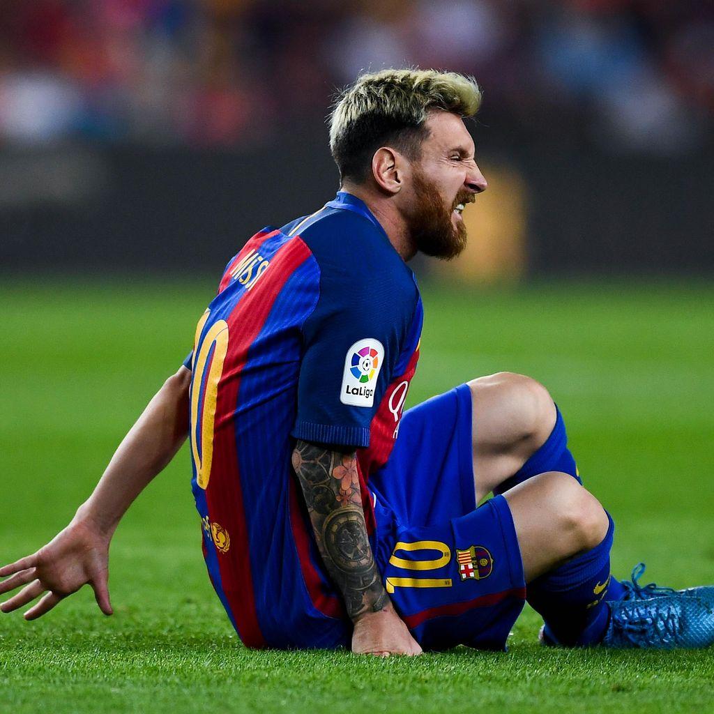 Messi Cedera Pangkal Paha, Absen Tiga Pekan