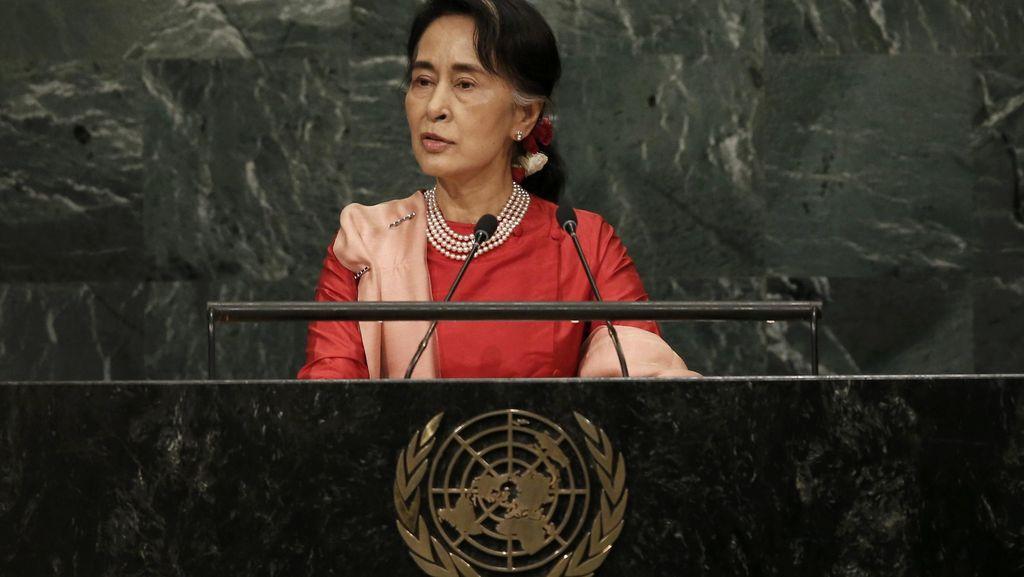 Pidato Pertama di Sidang PBB, Suu Kyi Bela Perlakuan Myanmar pada Rohingya