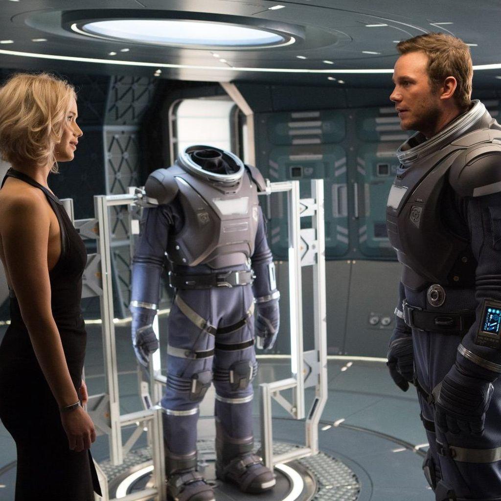 Romantisme Chris Pratt dan Jennifer Lawrence di Film Futuristik Passengers