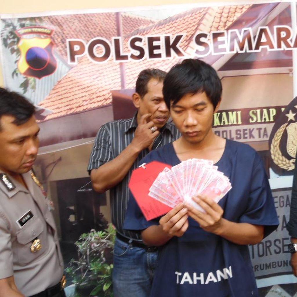 Pura-pura Masuk ATM, Penjahat ini Beli Handphone Pakai Uang Palsu