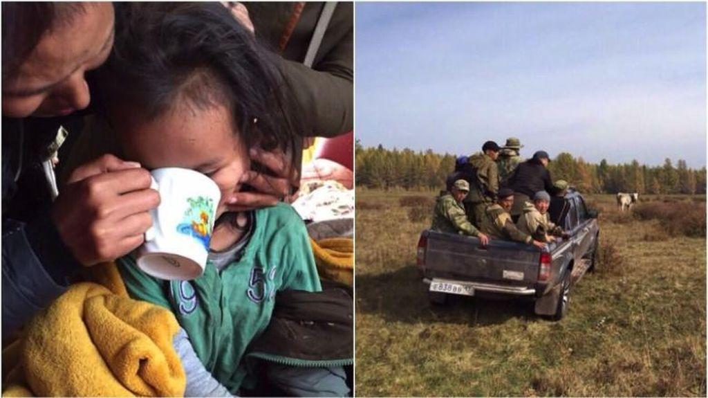 Bocah 3 Tahun Selamat Usai Hilang 3 Hari di Hutan Rusia