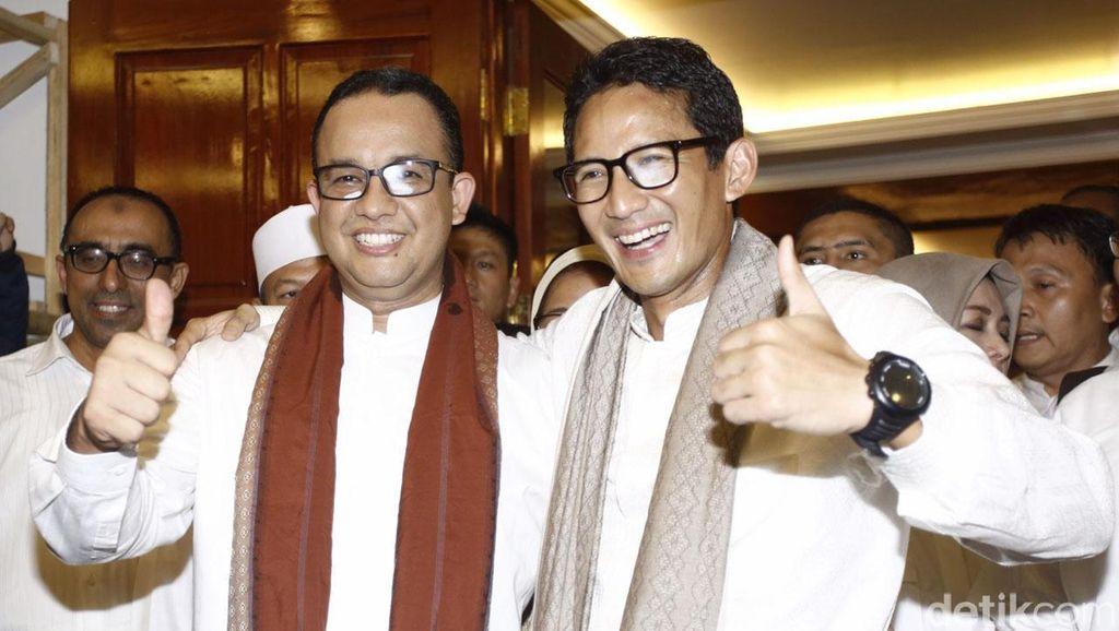Pihak Anies-Sandiaga Akan Bentuk Timses dan Bahas Dana Kampanye Pilgub DKI