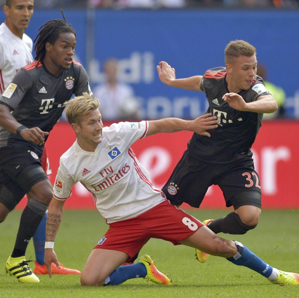 Gol di Menit-Menit Akhir Menangkan Bayern atas Hamburg
