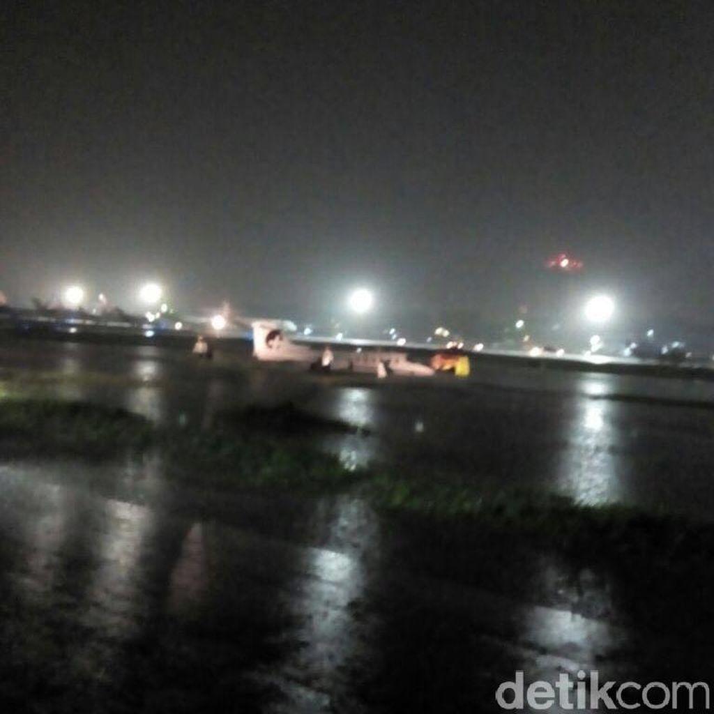 Pesawat Learjet Tergelincir, Bandara Halim Ditutup Sementara