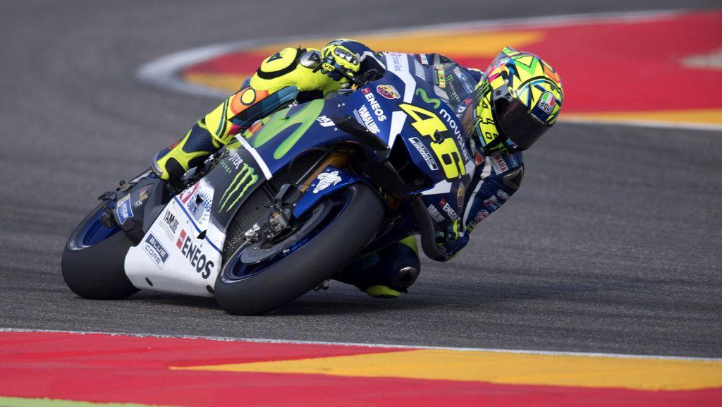 Akan Sulit Kalahkan Marquez di Aragon, Rossi Fokus Finis Tiga Besar