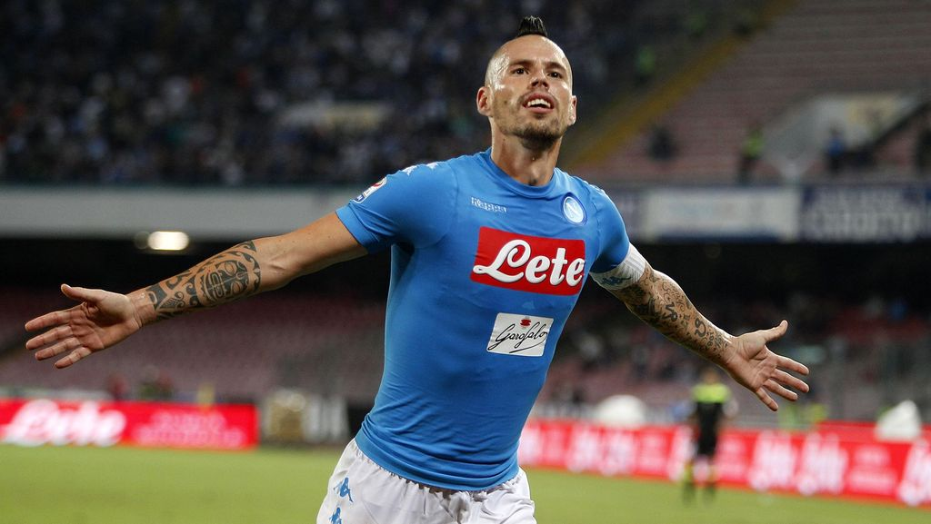 Hamsik Cetak Gol ke-100 untuk Napoli