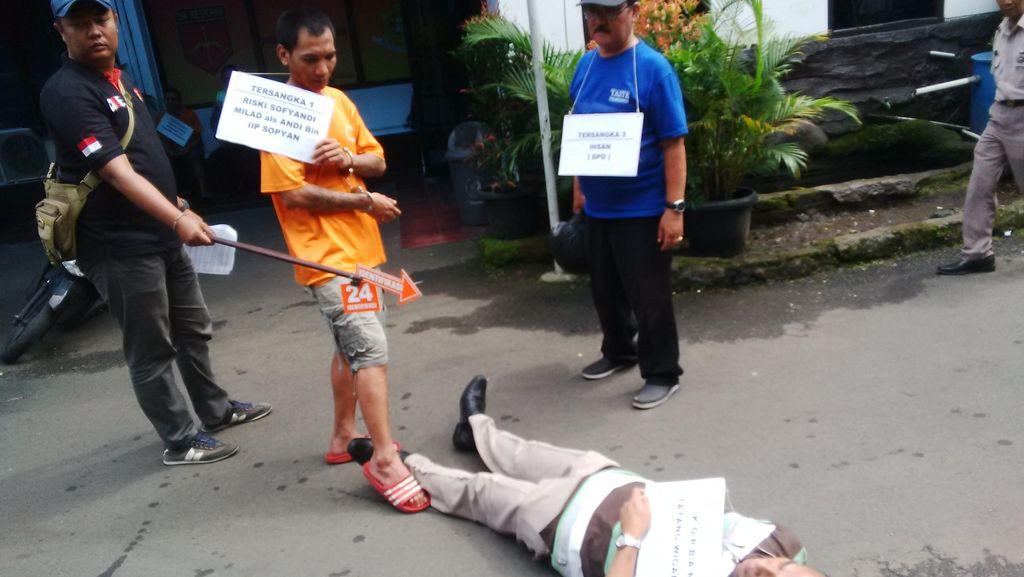Khawatir Diamuk Massa, Rekonstruksi Pembunuhan Guru Olahraga Digelar di Kantor Polisi