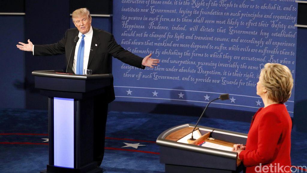 Video Trump yang Pilek Saat Debat Capres AS Jadi Viral di Medsos