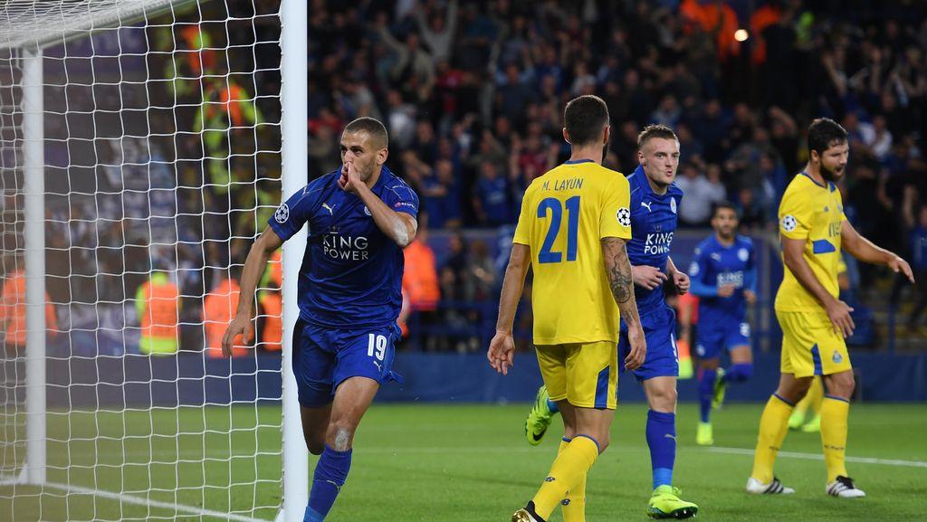 Gol Tunggal Slimani Antar Leicester Tekuk Porto