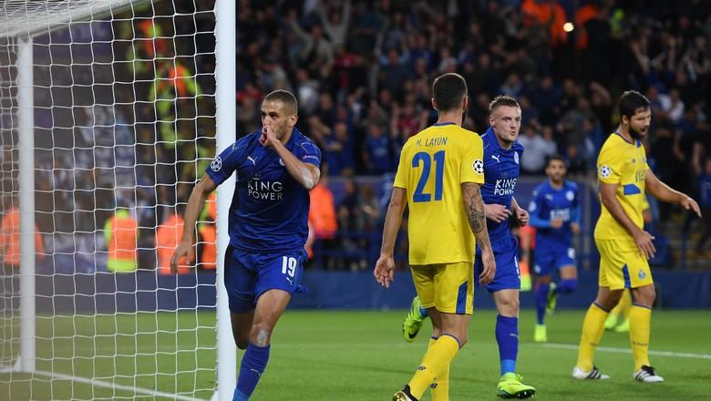Gol Semata Wayang Slimani Beri Kemenangan Leicester Atas porto