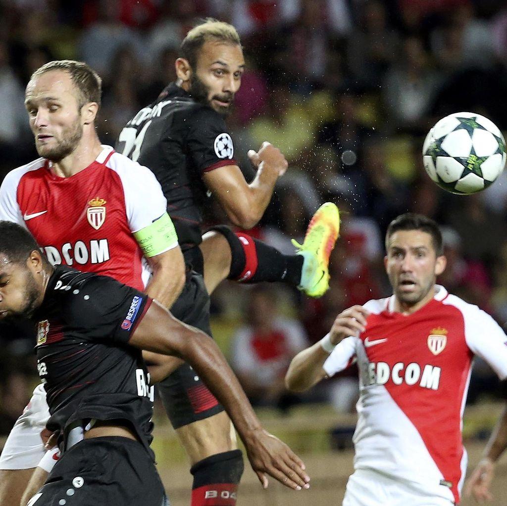 Gol di <i>Injury Time</i> Selamatkan Monaco dari Kekalahan Lawan Leverkusen