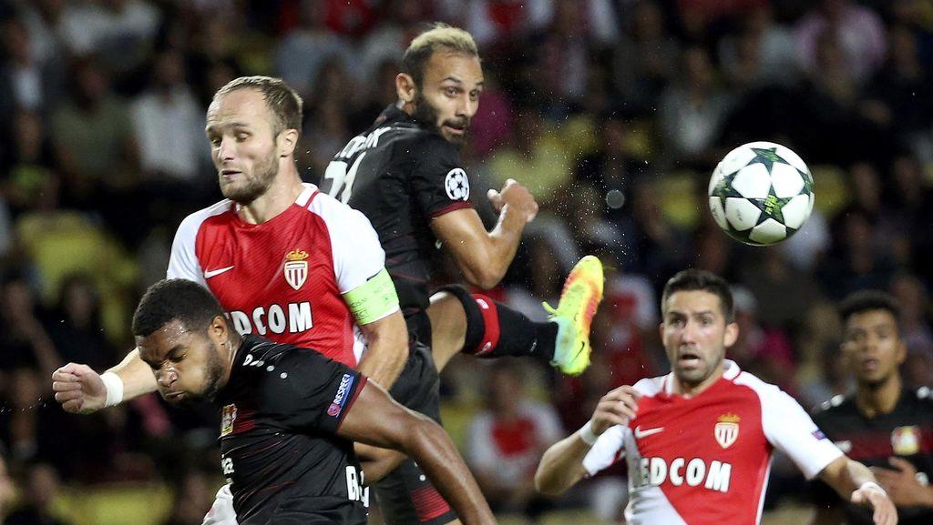 Gol di Injury Time Selamatkan Monaco dari Kekalahan Lawan Leverkusen