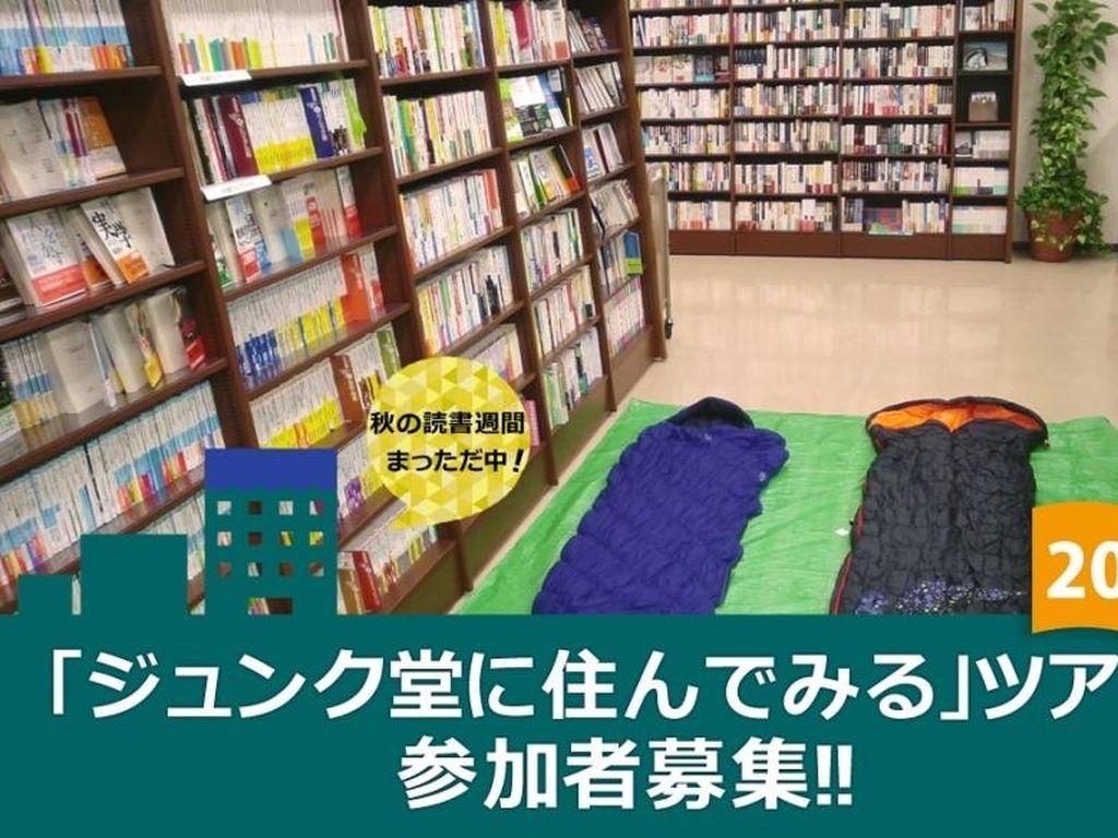 Bosan dengan Hotel? Di Jepang Traveler Bisa Bermalam di Toko Buku
