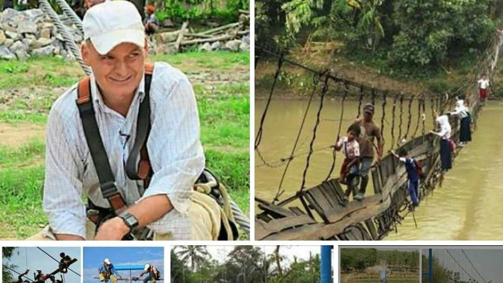 Kisah Miris Toni Ruttiman, WN Swiss yang Bangun Puluhan Jembatan Gantung di RI