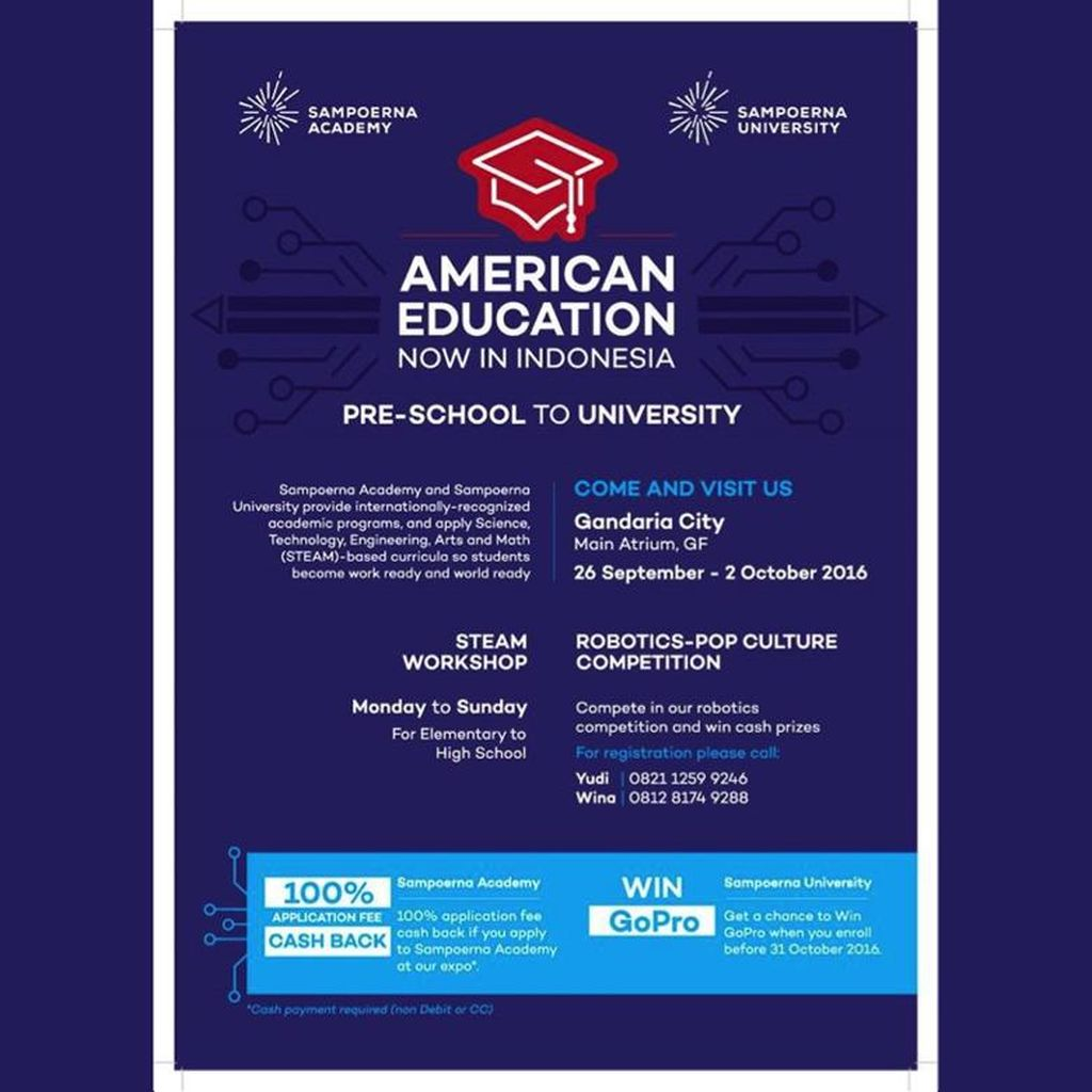 Kenali Pendidikan Berbasis STEAM ala Amerika di Sampoerna Academy & Sampoerna University Education Expo