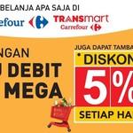Pakai Kartu Debit Bank Mega Diskon 5% Belanja di Transmart Carrefour