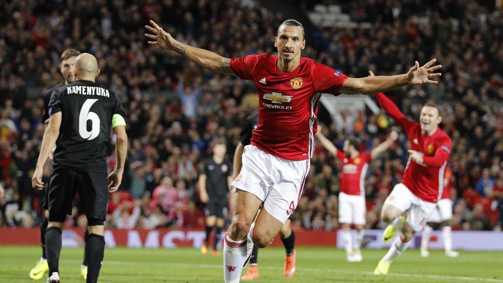 Gol Tunggal Ibrahimovic Menangkan MU