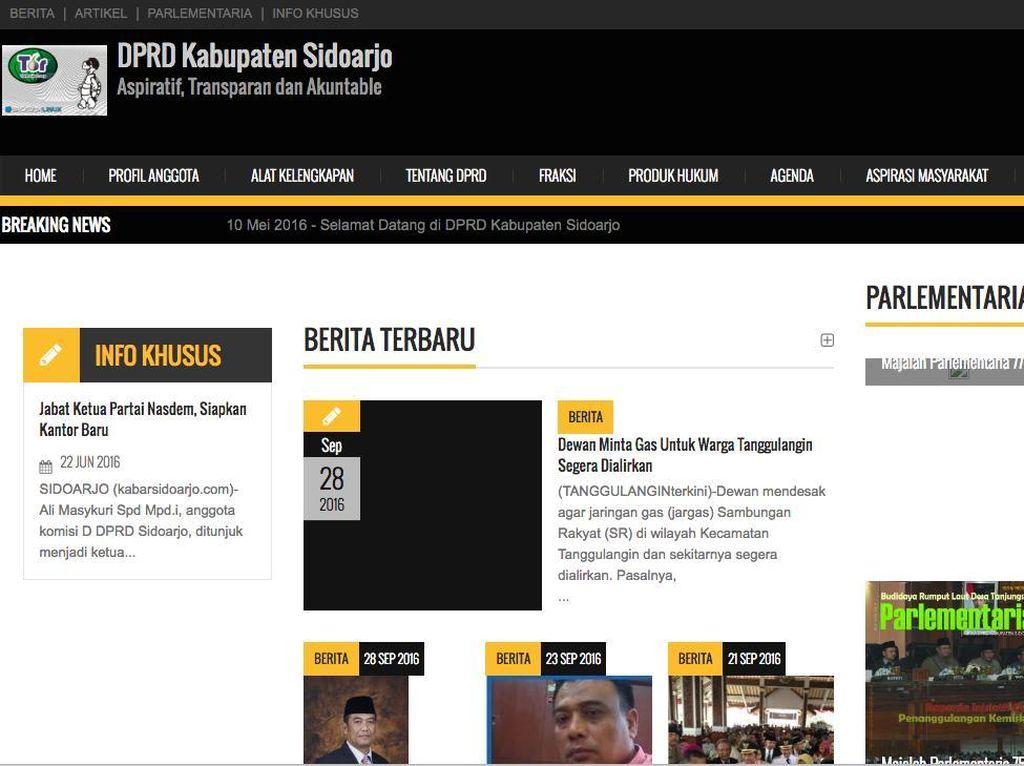 Di Jakarta Heboh Videotron Bokep, di Sidoarjo Website DPRD Tampilkan Film Porno