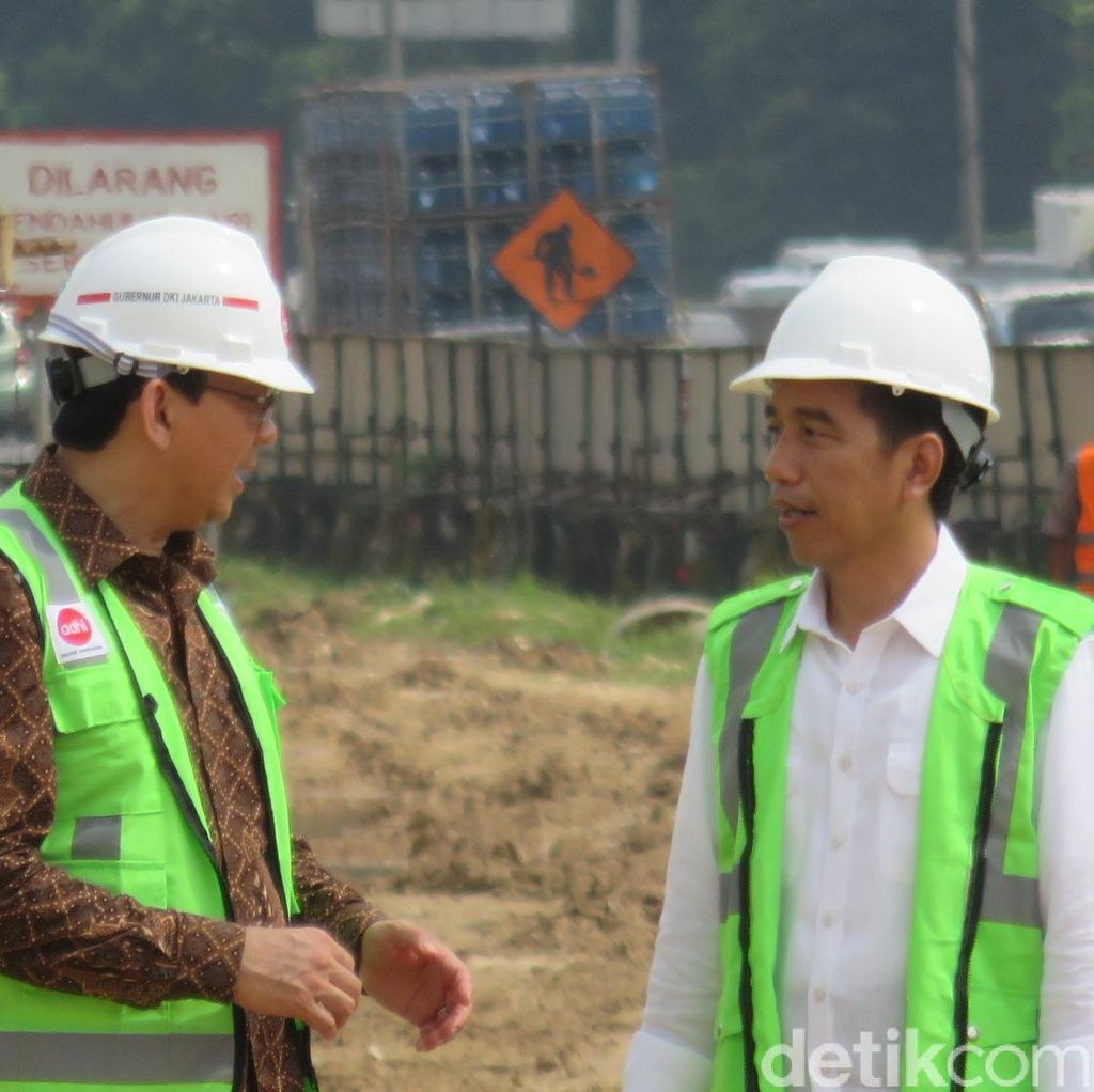 Usai Tinjau LRT, Jokowi-Ahok Melihat Progres Pembangunan MRT di Dukuh Atas