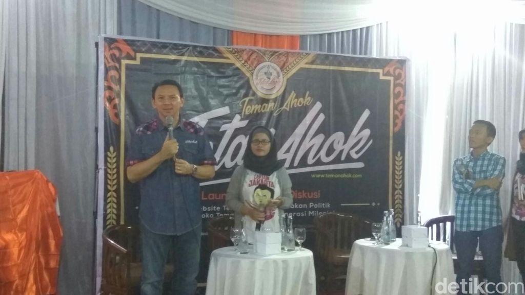 Launching #TetapAhok, Ahok: Yang Tak Punya Uang Tetap Bisa Dukung