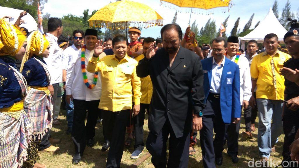 Ketum Nasdem, Golkar dan PPP Hadiri Deklarasi Cagub Aceh Tarmizi Karim