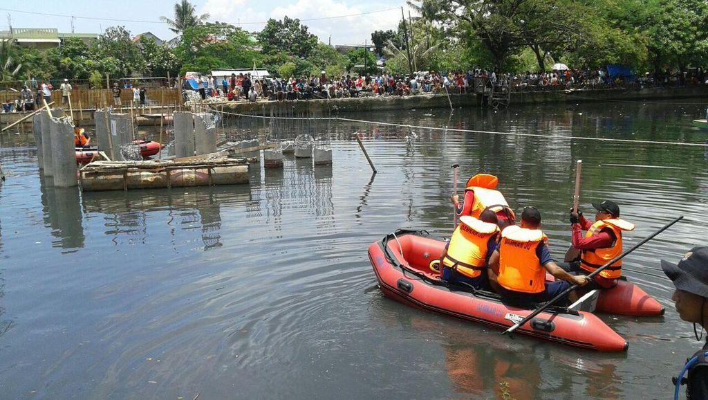 Pencarian Pekerja Proyek yang Tenggelam di Kali Sunter Dilanjutkan Besok