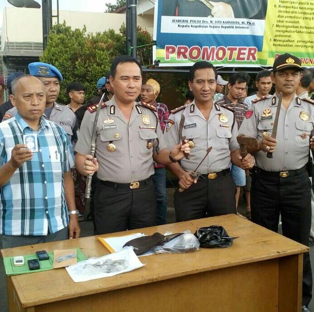 Razia di Depok, Polisi Tangkap Preman Proyek Hingga Maling Kabel Optik