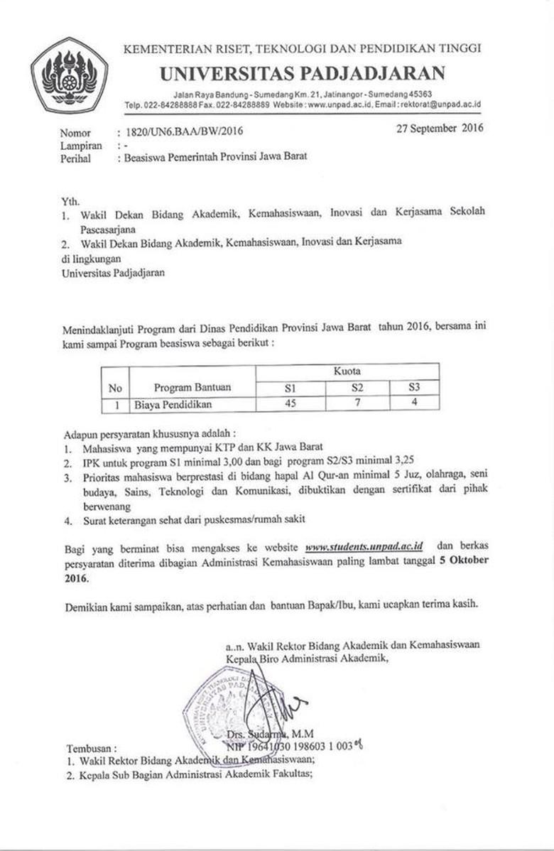 Pemprov Jabar Anggarkan Rp 4 M untuk Beasiswa